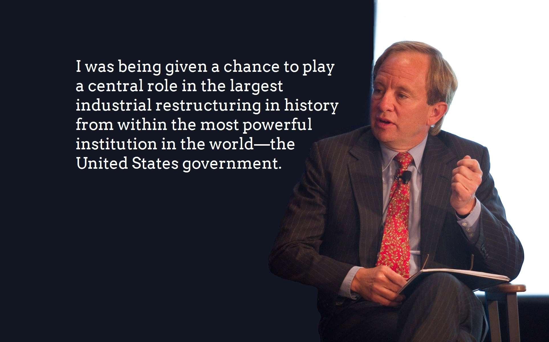 Steve Rattner seated